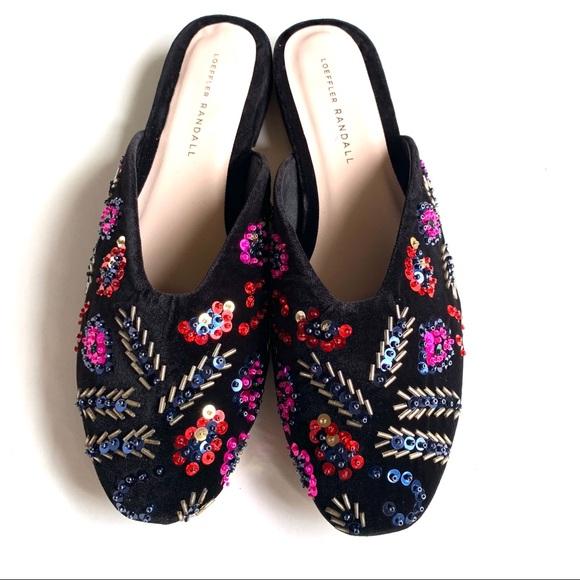 6d4756de0c Loeffler Randall Shoes   Quinn Velvet Beaded Mule 9 Nwb   Poshmark